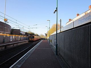 Chichester Metro station Tyne and Wear Metro station in South Tyneside