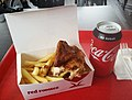 Chicken wings and hot chips from Red Rooster and a can of Coke No Sugar.jpg