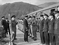 Chief of Combined Operations on Visit of Inspection. 6 March 1943, at HMS Armadilla and HMS Pascoe, Lord Louis Mountbatten Chief of Combined Operations Inspect Units of His Command. A15103.jpg