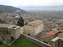 Chiesa di Sant'Angelo vista dal castello