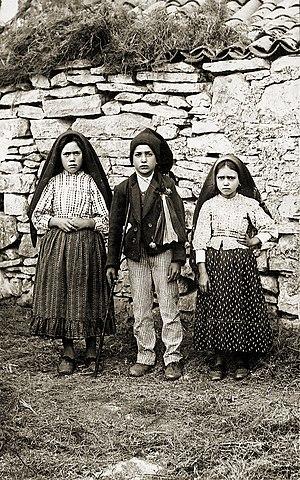 The three children of Fatima, Lucia, Francisco...