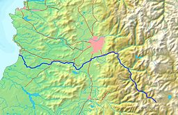 Map of the Maipo river
