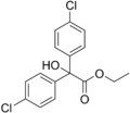Chlorobenzilate structure.png