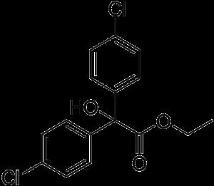 Chlorobenzilate - Image: Chlorobenzilate structure
