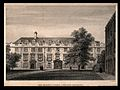 Christ's College, Cambridge; second court. Line engraving by Wellcome V0012313.jpg