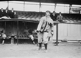 Christy Mathewson - Mathewson warming up as a New York Giant in 1910