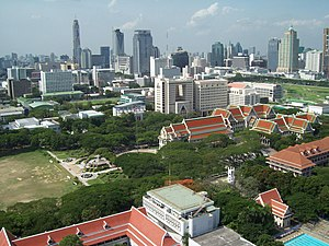Chulalongkorn University - Bird-angle view of Chulalongkorn University