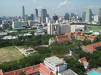 Chulalongkorn University - Bird-angle view of Chulalongkorn University