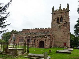 St Bertolines Church, Barthomley Church in Cheshire, England