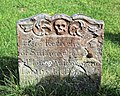 Church of St Nicholas, Ash-with-Westmarsh, Kent - gravestone memento mori 01.jpg