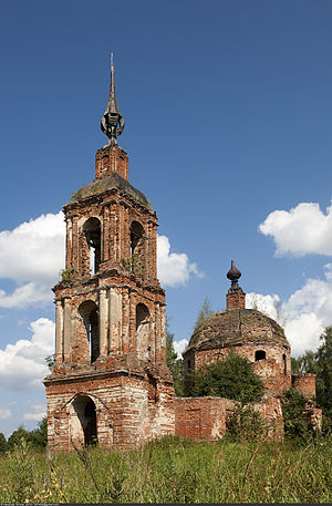 Kalyazinsky District - The Church of the Nativity of the Theotokos in the selo of Gora Pnevits.