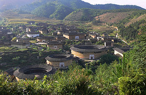 Longyan - Chuxi tulou cluster in Chuxicun, Xiyang, Yongding County.
