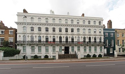 Cintra House, Cambridge, the university's former base in the East of England. Cintra House, Hills Road, Cambridge.jpg