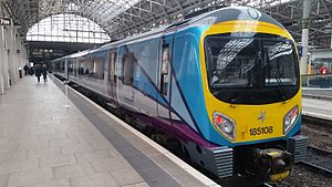 Go-Op (train operating company) - Image: Class 185 at Manchester Piccadilly