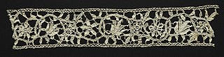 Needlepoint (Punto in aria) Lace Insertion