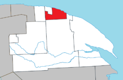 Cloridorme Quebec location diagram.png