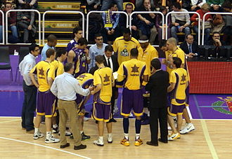CB Valladolid - Team in half-time in January 2011