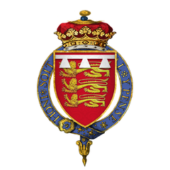 Coat of Arms of Sir John Mowbray, 3rd Duke of Norfolk, KG.png