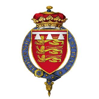 John de Mowbray, 3rd Duke of Norfolk - Arms of Sir John Mowbray, 3rd Duke of Norfolk, KG