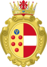 Coat of arms of Joanna of Austria and Maria Maddalena of Austria.png