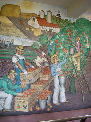Maxine Albro - California (mural, right half), Maxine Albro, 1934, Coit Tower, San Francisco
