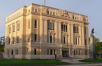 National Register of Historic Places listings in Colfax County, Nebraska - Image: Colfax County Courthouse (Nebraska) from NE 1