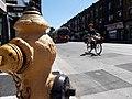College hydrant, bike, and TTC streetcar (21145271843).jpg