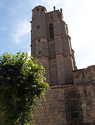 The tower of the collegiate church of Saint-Bonnet