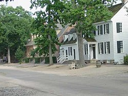 View of Duke of Gloucester Street in Colonial Williamsburg.