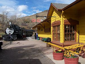 Colorado Railroad Museum - Main museum building