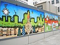Colourful mural at base of The Monument - geograph.org.uk - 882859.jpg
