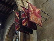 Colours of the 4th Battalion, Queen's Royal Regiment (West Surrey), in Croydon Minster