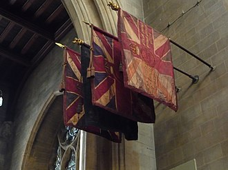 4th Battalion, Queen's Royal Regiment (West Surrey) - The King's and Regimental Colours of the 4th Queen's in Croydon Minster.