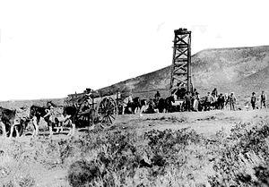 Golfo San Jorge Basin - Image: Comodoro Rivadavia Primer pozo de petróleo