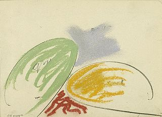 Composition with two Oval Forms