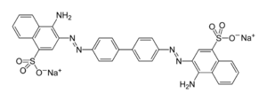 Skeletal formula of congo red