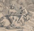 Conrad Meyer - Löntschtal in Glarus mit zwei Zeichnern - Ausschnitt.png