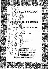 Resultado de imagen para constitución de 1833 chile
