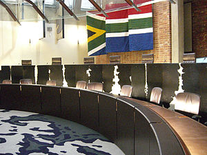 Edwin Cameron - The courtroom of the Constitutional Court of South Africa
