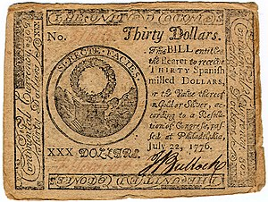 Continental Currency $30 banknote obverse (June 22, 1776).jpg