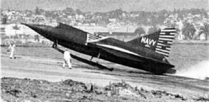 Convair XF2Y-1 beaching at San Diego 1953.jpg
