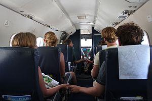 Embraer EMB 110 Bandeirante - EMB 110 cabin, operated by Air Rarotonga