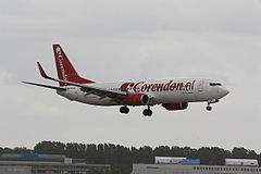 Boeing 737-800 w barwach Corendon Dutch Airlines