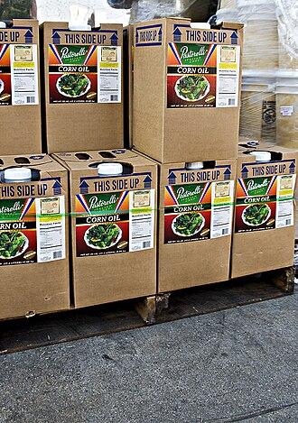 Corn oil - Corn oil, plastic jugs in cardboard boxes, 33 lbs. each