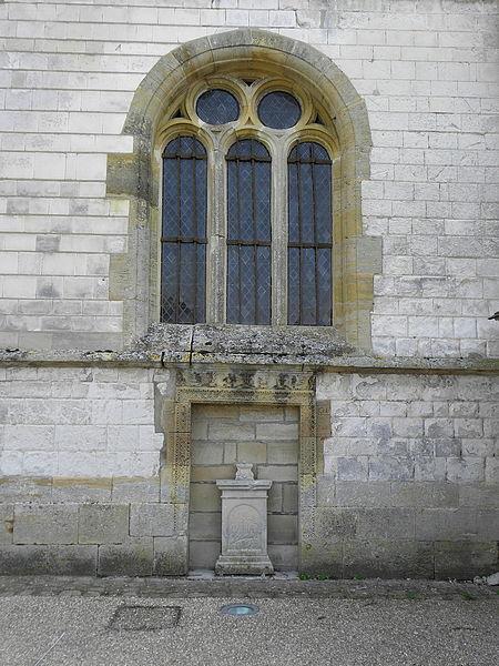 Église Saint-Martin de Courtisols (51).Façade ouest du collatéral nord.