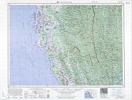 Cox's Bazar Map from Series U542, U.S. Army Map Service, 1955-