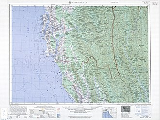 Cox's Bazar - Cox's Bazar Map from Series U542, US Army Map Service, 1955