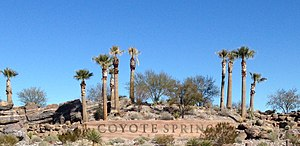 Coyote Springs, Nevada - Coyote Springs entrance as seen from Hwy 93 in 2016