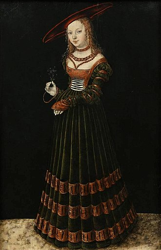 Museum of King John III's Palace at Wilanów - Image: Cranach the Elder Girl with forget me nots