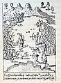 """Cristobal Colón, 1893 """"La gran batalla que tuvo el almirante con el Rey Guarionex y cien mil indios en la Vega Real"""". (4383849255).jpg"""